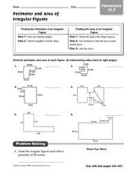 area of irregular shapes worksheet answers financial and