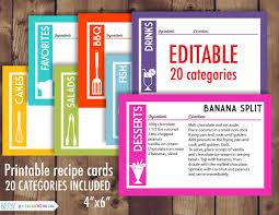 printable recipe cards 4 x 6 28 images of editable 4x6 recipe card template leseriail com