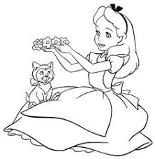 alice wonderland coloring kids stuff alice