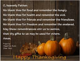 thanksgiving prayer written by landers dear abby