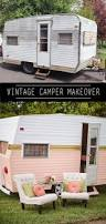 how to paint a vintage camper camper makeover color blue and