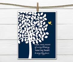 christian hymn wall art come thou fount of every blessing