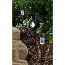 Bronze Landscape Lighting - mainstays bronze 8 piece starter solar powered landscape light set