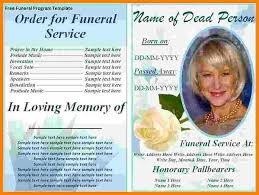 funeral program 5 funeral program templates for word points of origins