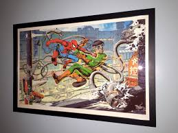 my limited edition mondo spider man print is back from the framers