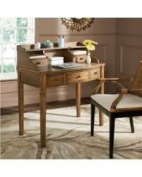 Small Writing Desks Big Deal On Safavieh Tiverton Oak Writing Desk Brown