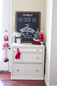 Chalkboard Home Decor by Christmas Decorations In My Home