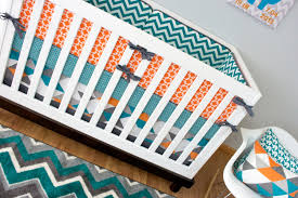 teal and gray elephant crib bedding furniture decoration boy