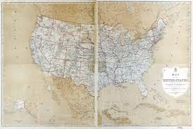 The United States Of America Map by Large Scale Old Political And Administreative Map Of The Usa