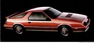 1980s dodge cars sports coupes slick styling dodge daytona chrysler