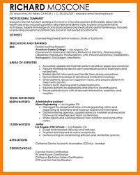 Dentist Resume Sample 9 Dental Resume Example Dental Assistant Cv Example For