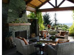Backyard Covered Patio Ideas by Backyard Covered Patio With Fireplace An Outdoor Fireplace