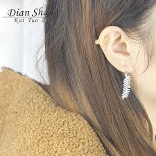 earrings everyday dianshangkaituozhe minimal large leaf earrings for women everyday