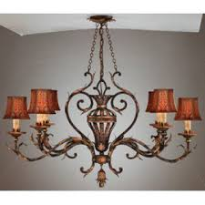 chandeliers with shades lamp drum u0026 wrapped linen or fabric