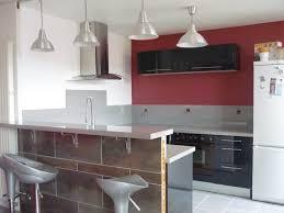 cuisine ouverte sur s駛our enchanteur decoration des cuisines modernes avec chambre enfant