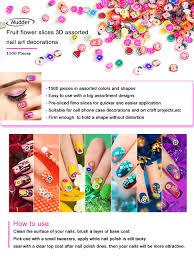 amazon com mudder 1500 pieces fruit slices fruit nail art slice