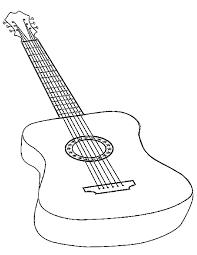 coloriage guitare à imprimer gratuitement