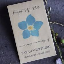 forget me not seed packets forget me not funeral favours personalised seed packets memorial