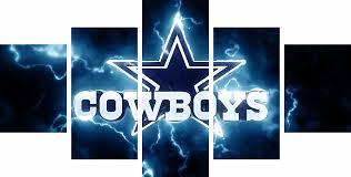 Dallas Cowboys Room Decor 5 Pieces Dallas Cowboys Logo Sports Team Deco Fans Posters Oil