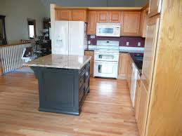 Granite Island Kitchen After New Island Furnishing Painted Black To Match New Granite