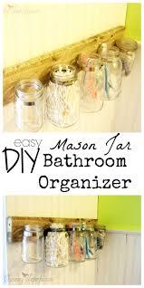 Mason Jar Bathroom Organizer Great Organization Ideas Page 2 Of 2 Princess Pinky