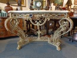 Marble Entry Table Wrought Iron Foyer Table Foter