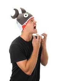 Shark Attack Halloween Costume Knit Shark Hat
