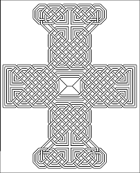 outline celtic knots examples to colour in