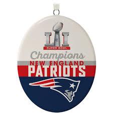 new patriots bowl li commemorative ornament