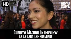 sonoya mizuno interview la la land lff premiere youtube
