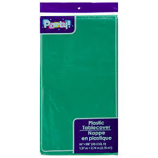 bulk green plastic table covers 54x108 in at dollartree