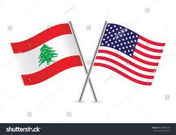 Libanese Flag American Lebanese Flag Vector Illustration Stock Vector 269894144
