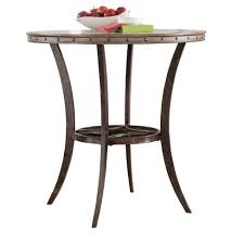 metal bar height table emmons round wood metal bar height bistro table washed gray