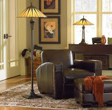 lighting ideas antique tiffany style floor lamps with small brown