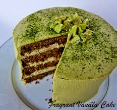 vegan matcha pear white chocolate layer cake gluten free from