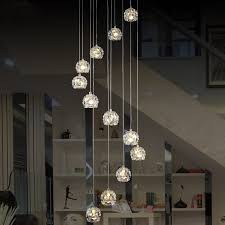 Modern Spiral Chandelier Led Staircase Lighting Indoor Stairway - Modern ceiling lights for dining room