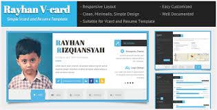 html resume template rayhan html resume template cv vcard by wpamanuke themeforest