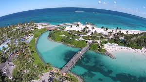 360 degree aerial view from the center of atlantis bahamas youtube