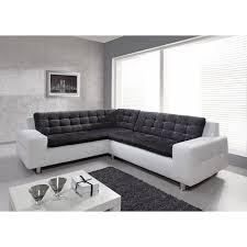 grand canapé d angle en tissu loft canapé d angle fixe gauche 6 places tissu gris anthracite