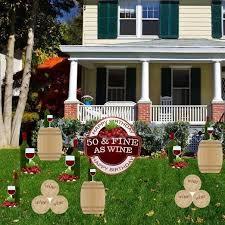 Yard Decoration 50th Birthday Yard Decoration 50 U0026 Fine As Wine Free Shipping