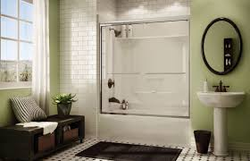 Whirlpool Bath Shower Combination Built In Bathtub Shower Combination Rectangular Acrylic Kdts
