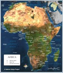 Map Of Cape Town South Africa by Map Of Africa Countries Of Africa Nations Online Project
