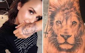 demi lovato gets a giant lion tattoo on her hand x17 online