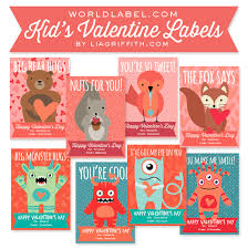 valentines for kids kids valentines day labels by lia griffith worldlabel