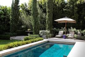 Mediterranean Backyard Landscaping Ideas Pool Landscaping Design Pool Mediterranean With Container Plants