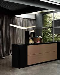 modular reception desk corner wooden commercial vogue frezza