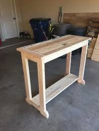 Wood Entry Table Console Table Do It Yourself Home Projects From White