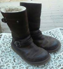 womens ugg biker boots pull on biker boots for ebay