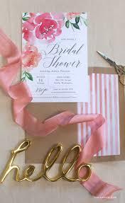 kitchen tea party invitation ideas watercolor peony bridal shower invitation shower invitations