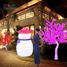 cd ls112 led lighted 3d outdoor snowman decorations